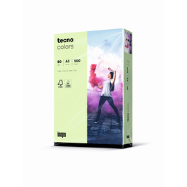 Kopierpapier tecno colors 75 A3 80g mittelgrün Pastellfarben (PACK=500 BLATT) Produktbild
