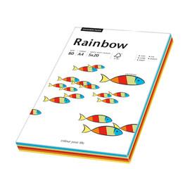 Kopierpapier Rainbow Intensiv A4 80g 5 Farben sortiert 88043188 (PACK=100 BLATT) Produktbild