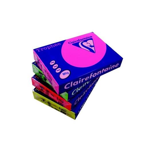 Kopierpapier Trophee Intensiv Fluofarben A4 80g neonpink 2568010361 (PACK=500 BLATT) Produktbild Additional View 1 L