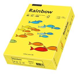 Kopierpapier Rainbow Pastell 14 A4 80g mittelgelb 88042319 (PACK=500 BLATT) Produktbild