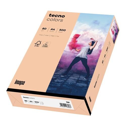 Kopierpapier tecno colors 40 A4 80g lachs Pastellfarben (PACK=500 BLATT) Produktbild Front View L