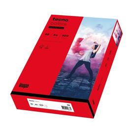 Kopierpapier tecno colors 28 A4 80g intensivrot Intensivfarben (PACK=500 BLATT) Produktbild