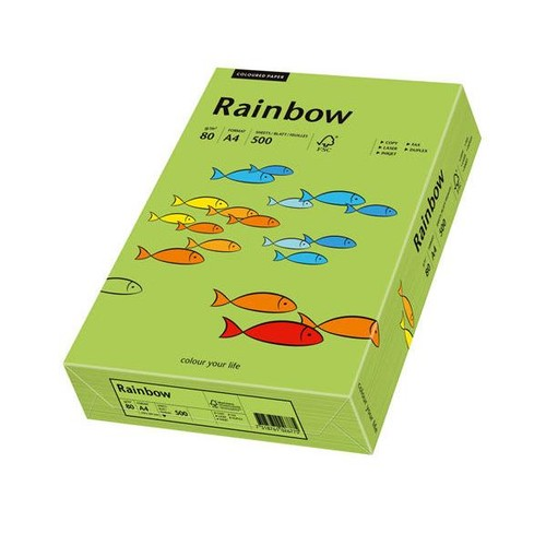 Kopierpapier tecno colors 76 A4 80g grün Intensivfarben (PACK=500 BLATT) Produktbild Front View L