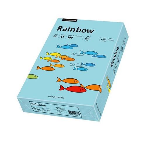 Kopierpapier Rainbow Pastell 84 A4 80g mittelblau 88042717 (PACK=500 BLATT) Produktbild Front View L