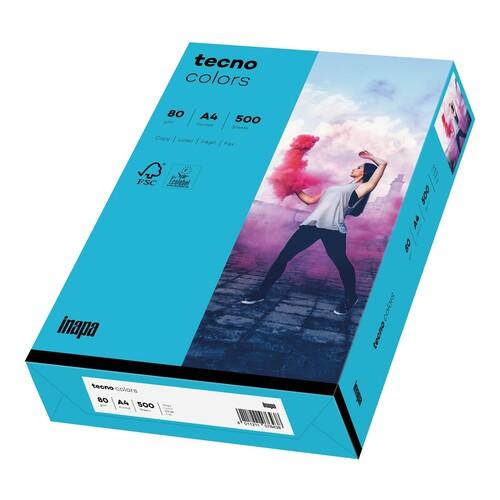 Kopierpapier tecno colors 87 A4 80g blau Intensivfarben (PACK=500 BLATT) Produktbild Front View L