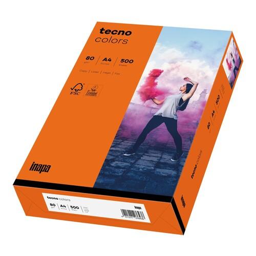 Kopierpapier tecno colors 26 A4 80g intensivorange Intensivfarben (PACK=500 BLATT) Produktbild Additional View 1 L