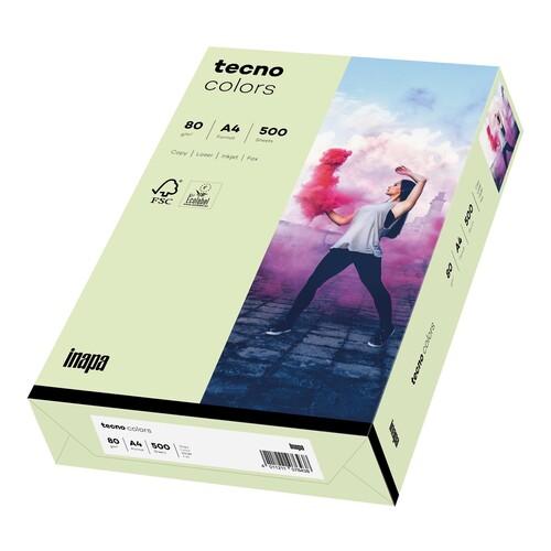Kopierpapier tecno colors 72 A4 80g hellgrün Pastellfarben (PACK=500 BLATT) Produktbild Front View L