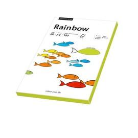 Kopierpapier Rainbow Fluofarben A4 80g neongrün 88043183 (PACK=100 BLATT) Produktbild