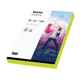 Kopierpapier tecno colors A4 80g neongrün Fluofarben (PACK=100 BLATT) Produktbild