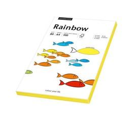 Kopierpapier Rainbow Fluofarben A4 80g neongelb 88043185 (PACK=100 BLATT) Produktbild