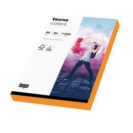 Kopierpapier tecno colors A4 80g neonorange Fluofarben (PACK=100 BLATT) Produktbild