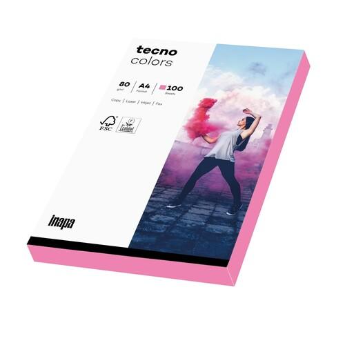 Kopierpapier tecno colors A4 80g neonpink Fluofarben (PACK=100 BLATT) Produktbild Front View L