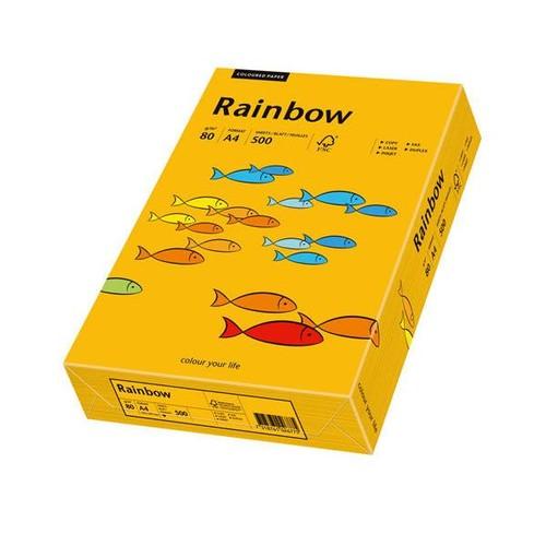 Kopierpapier Rainbow Pastell 22 A4 80g mittelorange 88042409 (PACK=500 BLATT) Produktbild Front View L