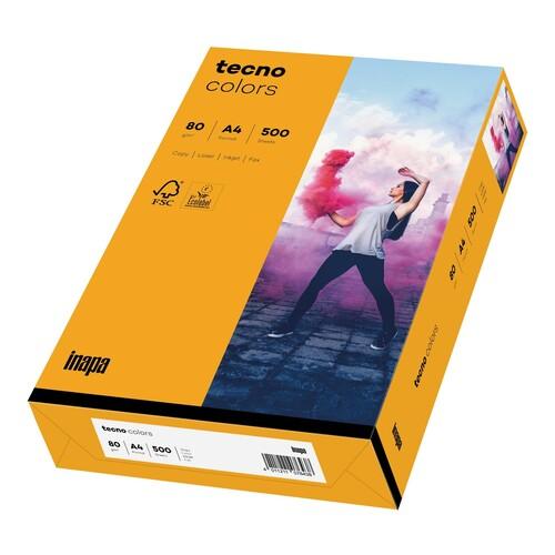 Kopierpapier tecno colors 22 A4 80g mittelorange Pastellfarben (PACK=500 BLATT) Produktbild Front View L