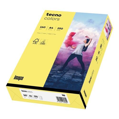 Kopierpapier tecno colors 14 A4 160g mittelgelb Pastellfarben (PACK=250 BLATT) Produktbild Front View L