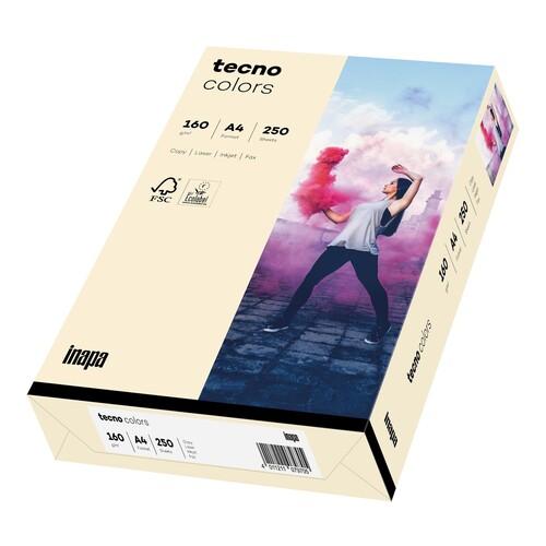 Kopierpapier tecno colors 03 A4 160g hellchamois Pastellfarben (PACK=250 BLATT) Produktbild Front View L