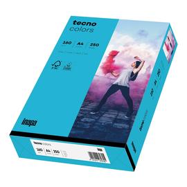 Kopierpapier tecno colors 87 A4 160g blau Intensivfarben (PACK=250 BLATT) Produktbild