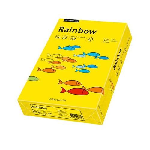 Kopierpapier tecno colors 18 A4 120g intensivgelb Intensivfarben (PACK=250 BLATT) Produktbild Front View L