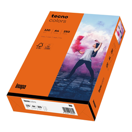 Kopierpapier tecno colors 26 A4 120g intensivorange Intensivfarben (PACK=250 BLATT) Produktbild