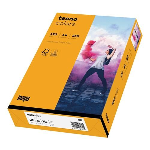 Kopierpapier tecno colors 22 A4 120g mittelorange Pastellfarben (PACK=250 BLATT) Produktbild Front View L