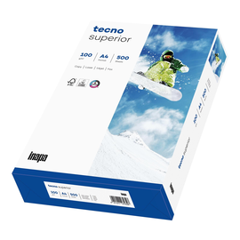 Kopierpapier tecno Superior Laser+Inkjet Office A4 100g weiß (PACK=500 BLATT) Produktbild