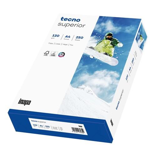 Kopierpapier tecno Superior A4 120g weiß holzfrei FSC EU-Ecolabel 170CIE (PACK=250 BLATT) Produktbild