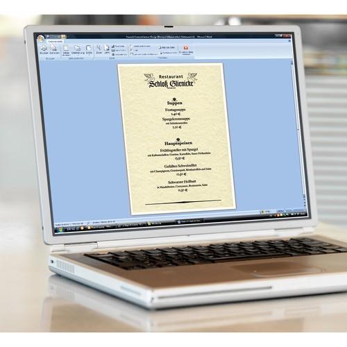 Struktur-Papier Inkjet+Laser+Kopier A4 90g Perga champagne Sigel DP605 (PACK=100 BLATT) Produktbild Additional View 1 L