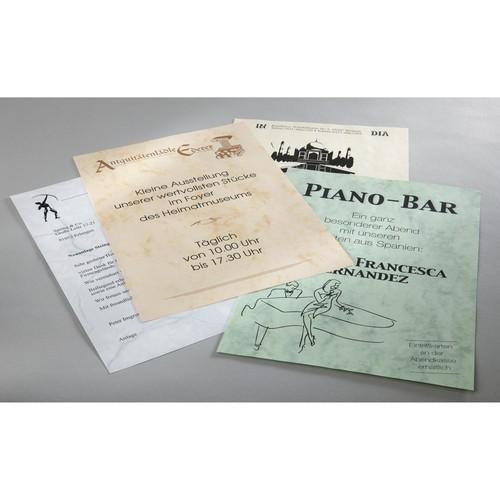 Marmor-Papier Inkjet+Laser+Kopier A4 90g grau Sigel DP371 (PACK=100 BLATT) Produktbild Additional View 4 L