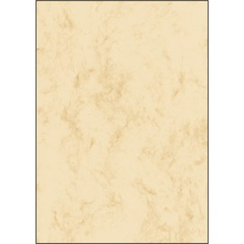 Marmor-Papier Inkjet+Laser+Kopier A4 200g beige Sigel DP397 (PACK=50 BLATT) Produktbild