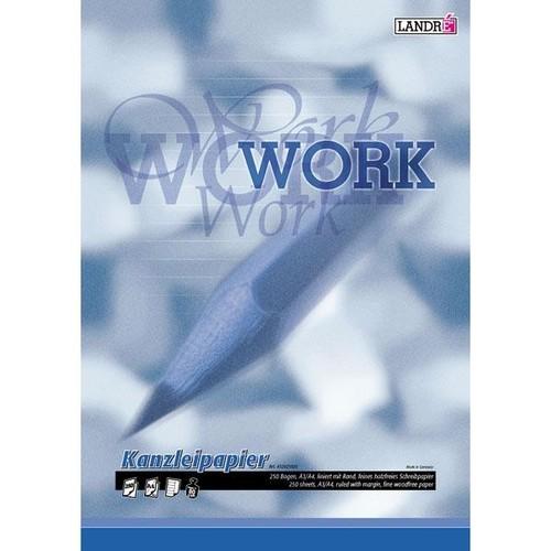 Kanzleipapier Lin.25 liniert mit freiem Rand A3/A4 80g weiß Landré 100050622 (PACK=250 BOGEN) Produktbild Additional View 1 L