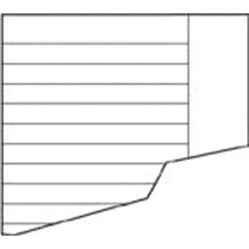 Schulaufgabenpapier Lin. 9 liniert mit freiem Rand A4/A5 80g weiß Landré 100050435 (PACK=250 BOGEN) Produktbild Front View L