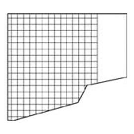 Schulaufgabenpapier Lin. 10 kariert mit freiem Rand A4/A5 80g weiß 457687 (PACK=250 BOGEN) Produktbild