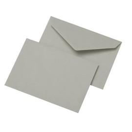 Briefumschlag ohne Fenster C6 114x162mm nassklebend 75g grau Recycling (PACK=1000 STÜCK) Produktbild