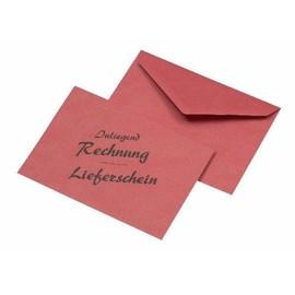 """Briefumschlag ohne Fenster mit Aufdruck """"Rechnung-Lieferschein"""" C6 114x162mm nassklebend 75g rot (PACK=1000 STÜCK) Produktbild"""