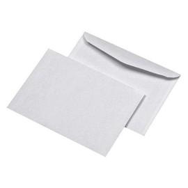 Briefumschlag ohne Fenster B6 125x176mm nassklebend 75g weiß mit grauem Innendruck (PACK=100 STÜCK) Produktbild