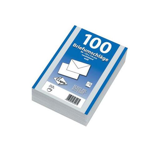 Briefumschlag ohne Fenster mit Seidenfutter C5 162x229mm nassklebend 90g weiß (PACK=500 STÜCK) Produktbild Front View L