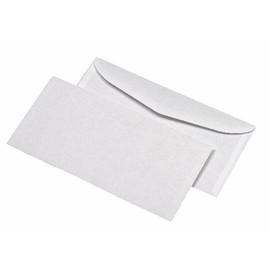 Kuvertierhülle nassklebend weiß 75g/m2 DIN lang+ 114x229mm / ohne Fenster / mit außenliegender Seitenklappe (PACK=1000 STÜCK) Produktbild