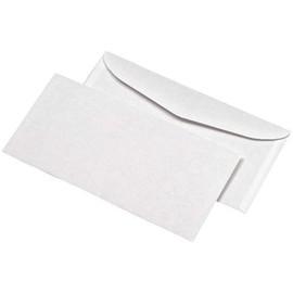 Kuvertierhülle ohne Fenster 114x229mm außenliegende Seitenklappe nassklebend 80g weiß (PACK=1000 STÜCK) Produktbild