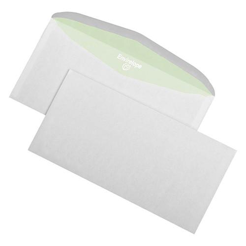 Kuvertierhülle ENVIRELOPE ohne Fenster 114x229mm außenliegende Seitenklappe nassklebend 80g hochweiß Recycling 103 (PACK=1000 STÜCK) Produktbild Front View L