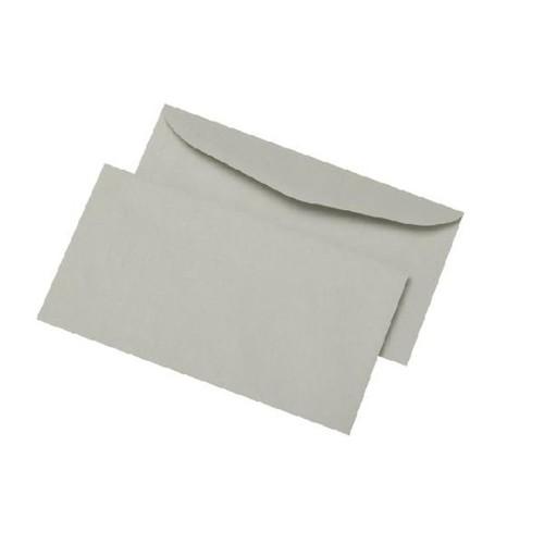 Kuvertierhülle nassklebend grau 75g/m2 DIN lang+ 114x229mm / ohne Fenster / mit außenliegender Seitenklappe (PACK=1000 STÜCK) Produktbild Front View L