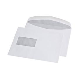 Kuvertierhülle mit Fenster C5 162x229mm innenliegende Seitenklappe nassklebend 80g weiß (PACK=500 STÜCK) Produktbild