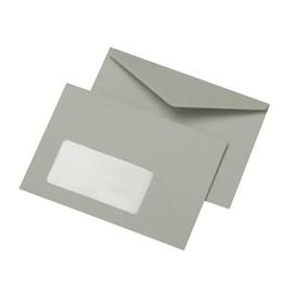 Briefumschlag mit Fenster C6 114x162mm nassklebend 75g grau Recycling (PACK=1000 STÜCK) Produktbild