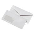 Briefumschlag mit Fenster DIN lang 110x220mm nassklebend 75g weiß mit grauem Innendruck (PACK=1000 STÜCK) Produktbild