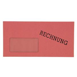 """Briefumschlag """"Rechnung"""" mit Fenster DIN lang 110x220mm nassklebend 60g rot (PACK=1000 STÜCK) Produktbild"""