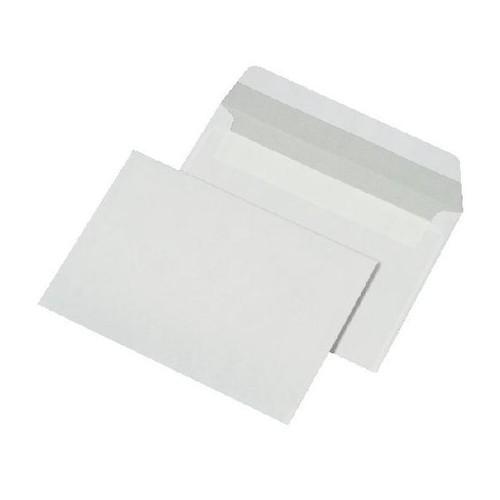 Briefumschlag ohne Fenster C6 114x162mm mit Haftklebung 80g weiß mit grauem Innendruck (PACK=1000 STÜCK) Produktbild Front View L