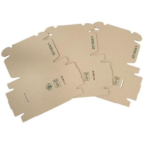 Wellpappe Graspapier Faltkarton braun 220 x 150 x 45mm / 1.30 B / FEFCO 0427 Produktbild Front View L