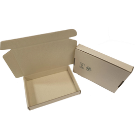 Wellpappe Graspapier Faltkarton braun 300 x 220 x 50mm / 1.30 B / FEFCO 0427 Produktbild