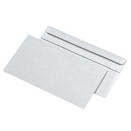 Briefumschlag ohne Fenster DIN lang 110x220mm selbstklebend 75g weiß mit grauem Innendruck (PACK=1000 STÜCK) Produktbild