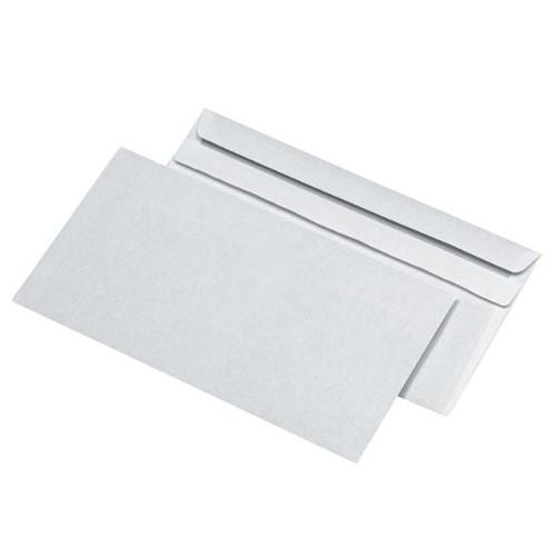 Briefumschläge DL 110 x 220 mm weiß 70g//m² mit Fenster haftklebend 100 Stuck