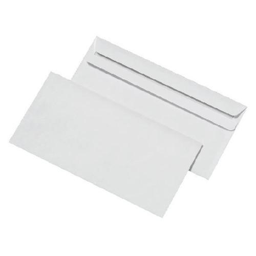 Briefumschlag ohne Fenster DIN lang 110x220mm mit Haftklebung 80g weiß mit grauem Innendruck (PACK=1000 STÜCK) Produktbild Additional View 1 L